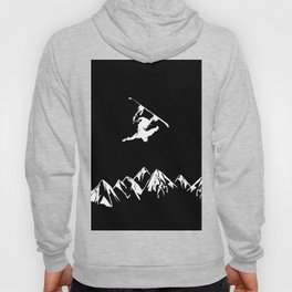 Rocky Mountain Snowboarder Catching Air Hoody