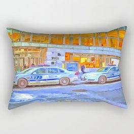 New York Police Department Pop Art Rectangular Pillow