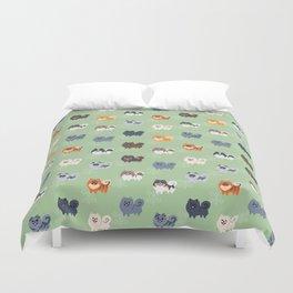 Pomeranians Duvet Cover