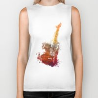 bass Biker Tanks featuring Bass Guitar by jbjart