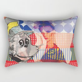 Fashionable Cat in the Hat Rectangular Pillow