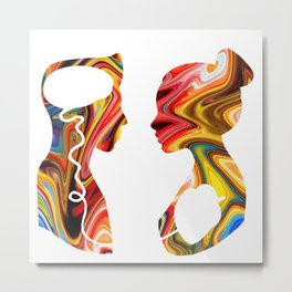 Heart and Mind Metal Print