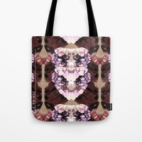 minerals Tote Bags featuring Mira Minerals by lalaprints