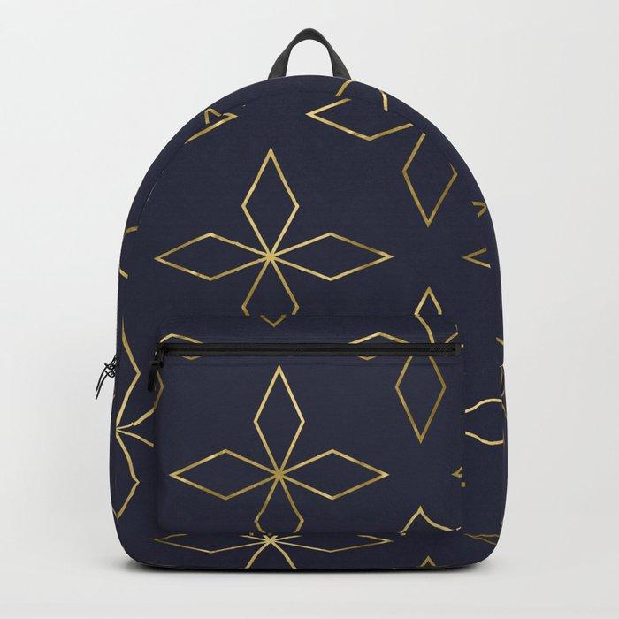 Gold Modern Deco 2 Backpack