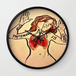 Stop Pretending Art Is Hard Wall Clock