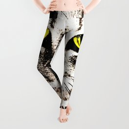 cat kitty licks licking paws perfectly Leggings