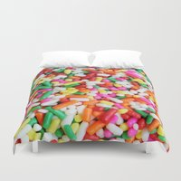 sprinkles Duvet Covers featuring Sprinkles by Beastie Toyz