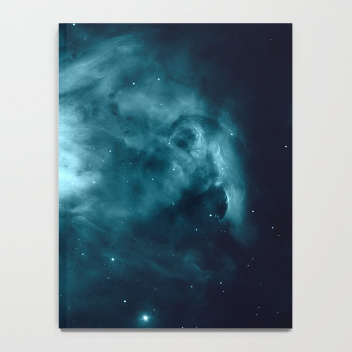 Teal Orion nebula : Hauntingly Beautiful Space Series Notebook