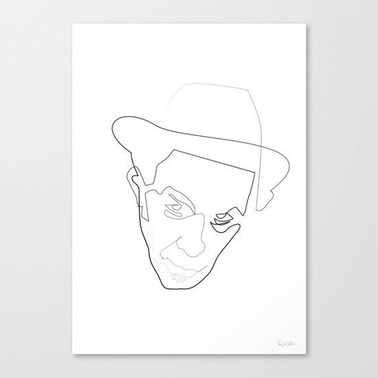 One Line Tom Waits Canvas Print