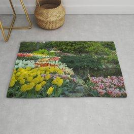 Technicolor Tulips Rug