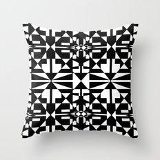 Black and White Tile 5/4/2013 Throw Pillow