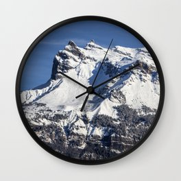 French Alps Wall Clock