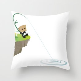 Mysterious Panda-Sea King fishing Throw Pillow