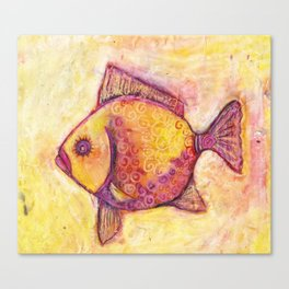 Fish One Pillow Canvas Print