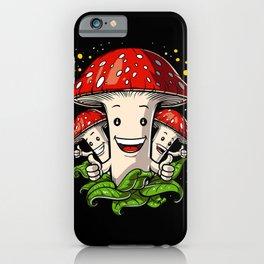 Magic Mushrooms Psychedelic Psilocybin Shrooms iPhone Case
