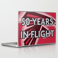 nfl Laptop & iPad Skins featuring NFL - Falcons 50 Years by Katieb1013