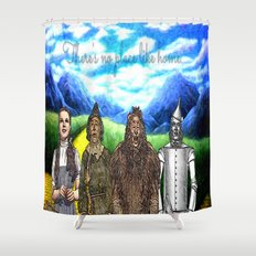 No Place Like Home Wizard Oz Art Shower Curtain