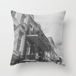 New Orleans French Quarter Throw Pillow