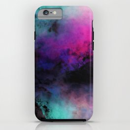 Neon Radial Dreams iPhone Case