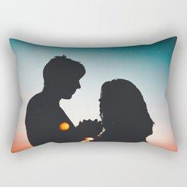 MAN - WOMAN - HANDS - LIGHTS - CIRCLES - PHOTOGRAPHY Rectangular Pillow