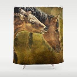 Horsing Around No. 2 - Pryor Mustangs Shower Curtain