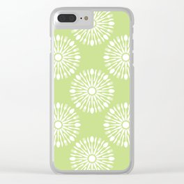 Kitchen cutlery green Clear iPhone Case