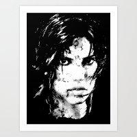 lara croft Art Prints featuring Lara Croft Tombraider by D-fens
