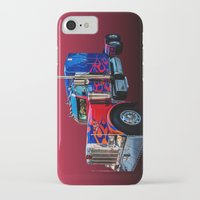 optimus prime iPhone & iPod Cases featuring Optimus Prime Red by Steve Purnell