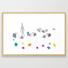 Staring at stones Framed Art Print