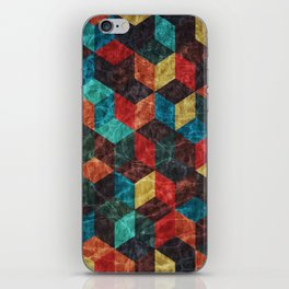 Colorful Isometric Cubes iPhone Skin
