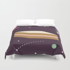 Ham & Cheese in Space Duvet Cover