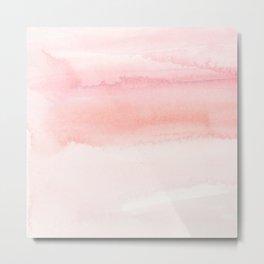 Blush pink hand painted watercolor paint gradient Metal Print