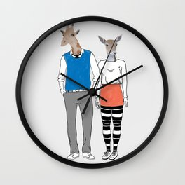 Animal alterego Wall Clock