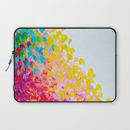 CREATION IN COLOR - Vibrant Bright Bold Colorful Abstract Painting Cheerful Fun Ocean Autumn Waves Laptop Sleeve