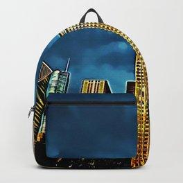 Glittering Chicago Skyline Backpack