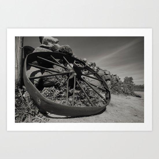 Broken Wagon Wheel Art Print