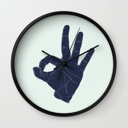 A-OK Wall Clock