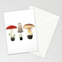 Three Mushrooms Stationery Cards
