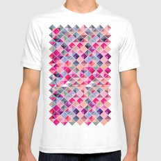 Block Party! MEDIUM White Mens Fitted Tee