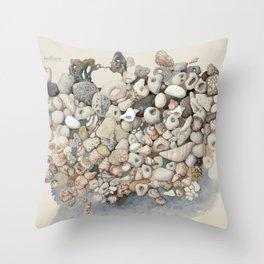 Sea shore Herzliya Apollonia Throw Pillow