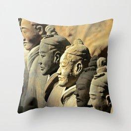 Chinese Terracotta Warriors Throw Pillow