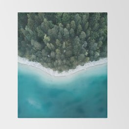 Green and Blue Symmetry - Landscape Photography Throw Blanket