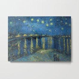 Starry night over the Rhône Metal Print