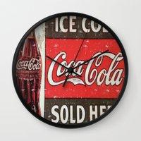 coke Wall Clocks featuring Coke by R&R.