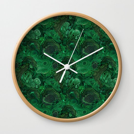 malachite Wall Clock