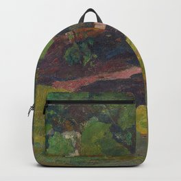 Paul Gauguin - In the Vanilla Grove, Man and Horse Backpack