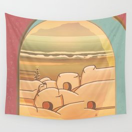 Beached Labyrinth Wall Tapestry