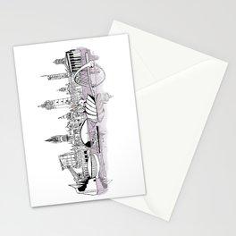 Glasgow City Skyline Stationery Cards