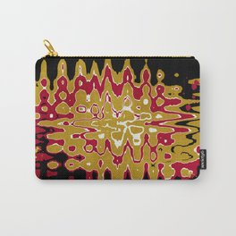 Black Gold Abstract Carry-All Pouch