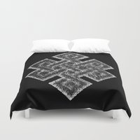 buddhism Duvet Covers featuring Many Paths of One Humanity - 1 of 7 - Buddhism  by ART.KF